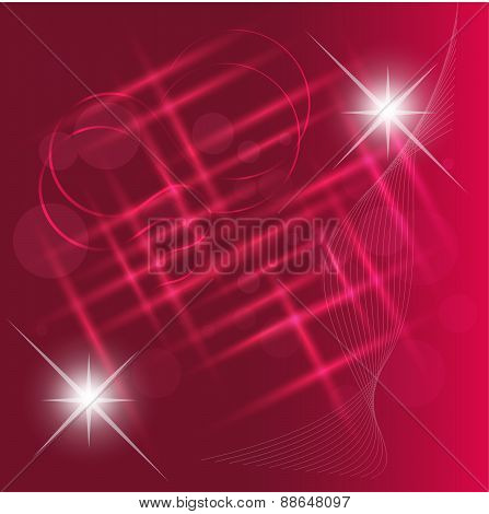 Abstract light bokeh on pink background