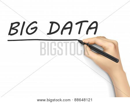 Big Data Words Written By Hand