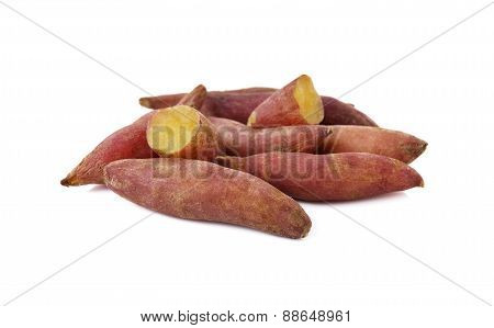 Boiled Sweet Tiny Potato On White Background