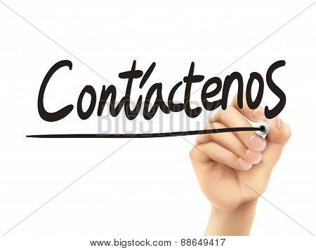 Spanish Words For Contact Us