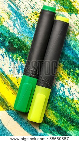 Green And Yellow Markers