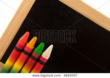 Black Board With Chalks