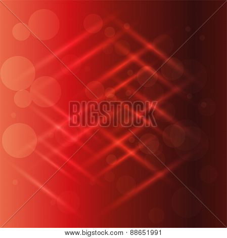 Abstract red light effect background vector