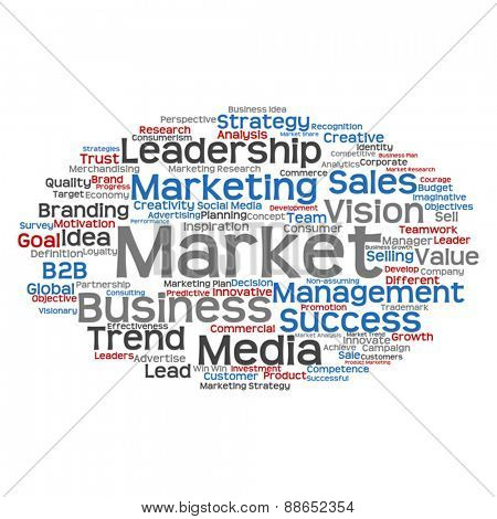 Vector concept or conceptual abstract business success word clou
