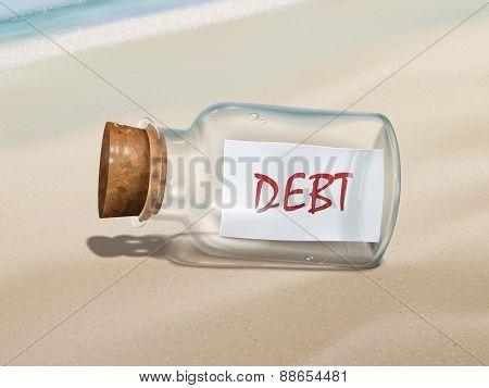 Debt Message In A Bottle