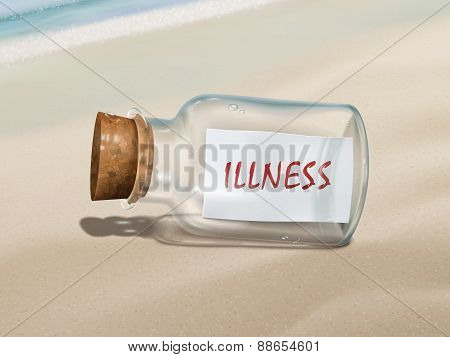 Illness Message In A Bottle