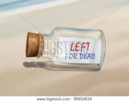 Left For Dead Message In A Bottle