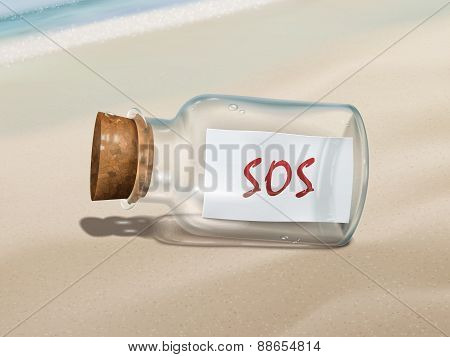 Sos Message In A Bottle