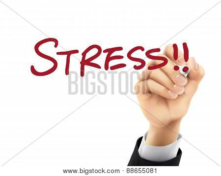 Stress Written By 3D Hand