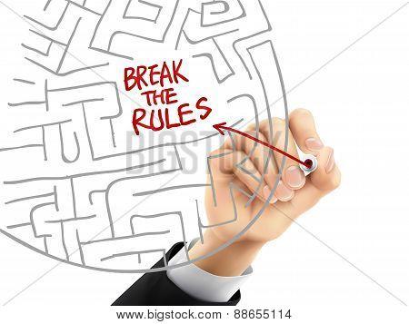 Break The Rules Written By 3D Hand