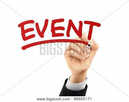 Event Written By 3D Hand