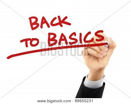 Back To Basics Written By 3D Hand