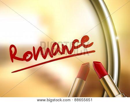 Romance Word Written By Red Lipstick