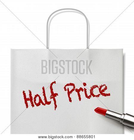 Half Price Words Written By Red Lipstick