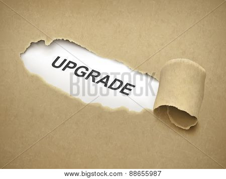 The Word Upgrade Behind Torn Paper
