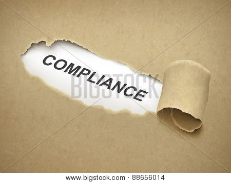 The Word Compliance Behind Torn Paper