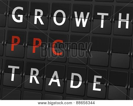 Growth Ppc Trade Words On Airport Board