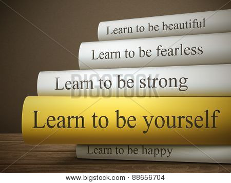 Book Title Of Learn To Be Yourself