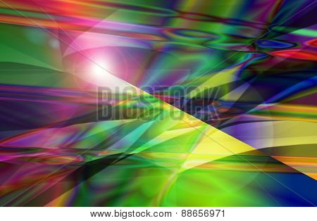 Colorful Abstract And Background Texture Pattern With Sun Flare