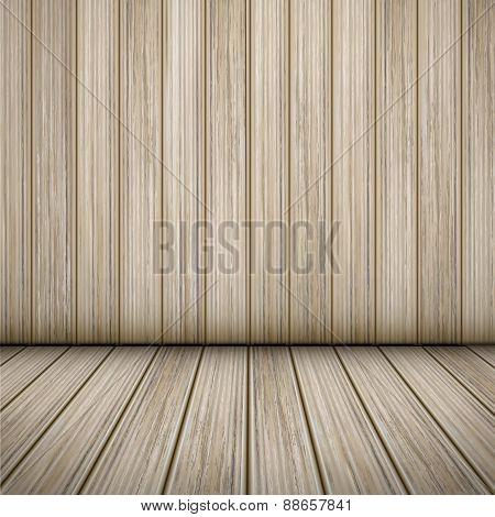 Interior Scene Of Wooden Room