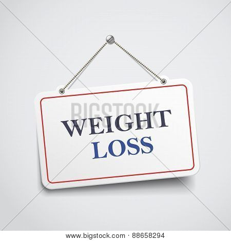 Weight Loss Hanging Sign