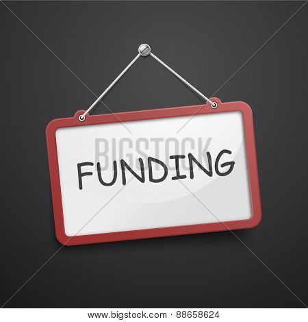 Funding Hanging Sign