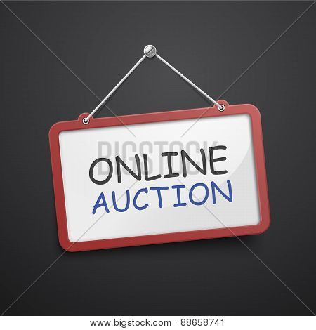 Online Auction Hanging Sign