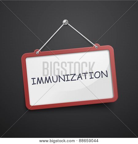 Immunization Hanging Sign