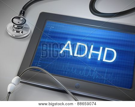 Adhd Word Display On Tablet
