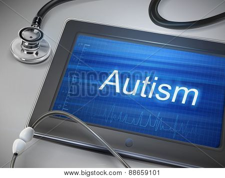 Autism Word Display On Tablet