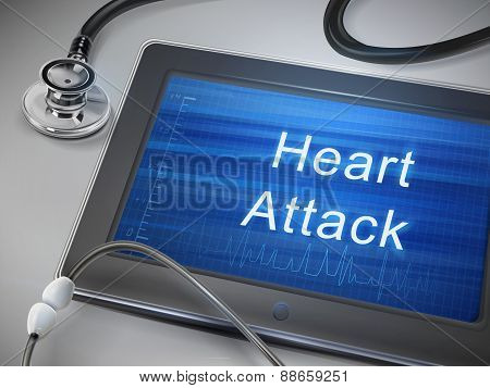 Heart Attack Words Display On Tablet