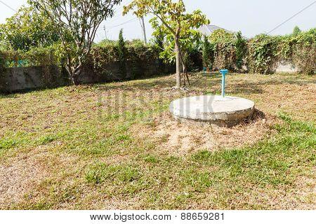 Underground Cement Cylinder Of Lavatory Cesspit