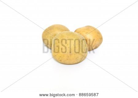 Raw Potato On White Background