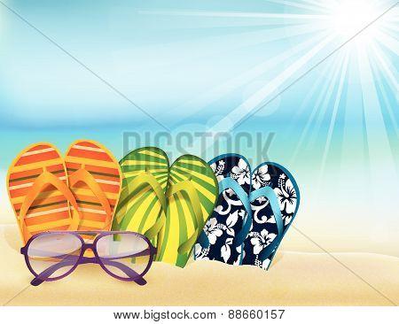 Summer in beach