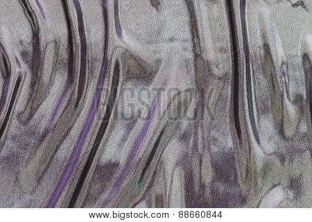 Wavy Fabric Of Iridescent Motley Colors