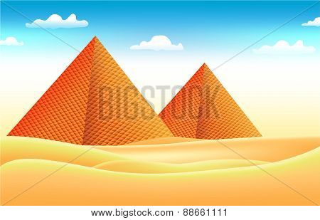 Dubble Pyramid Vector