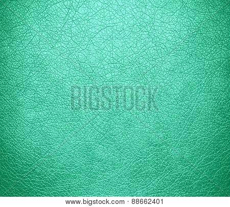 Aquamarine leather texture background