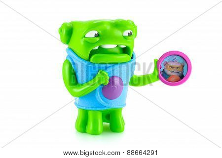 Nervous Oh Alien Green Color Toy Character From Dreamworks Home Animation Movie.