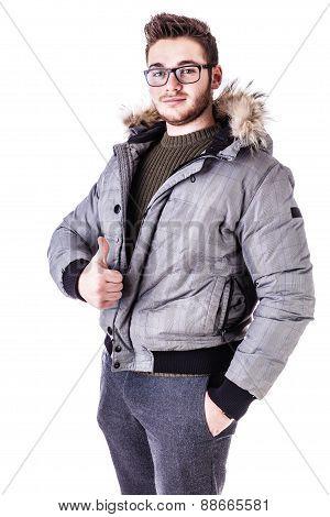 Thumb Up Winter Boy