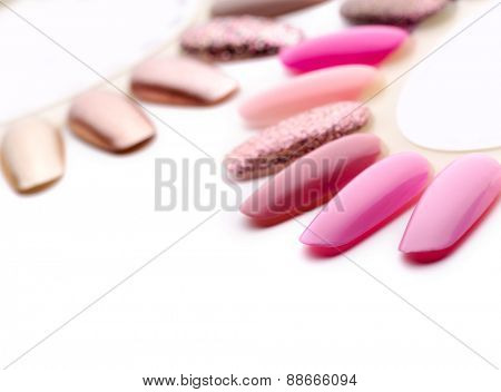 Nail polish in different fashion colors