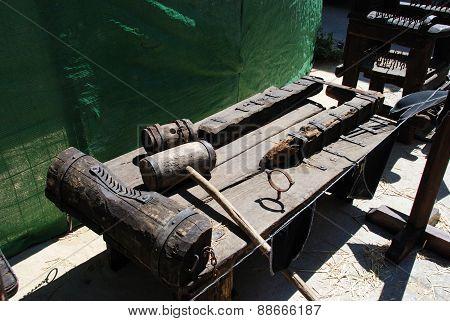 Medieval torture rack.