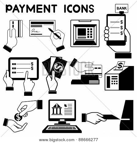 payment and ATM icons