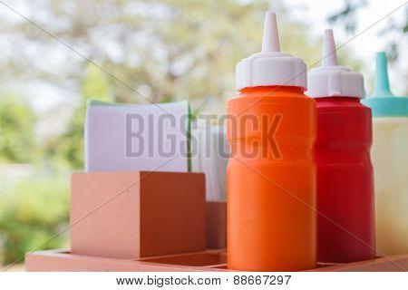 Tomato Ketchup, Chili Sauce And Mayonnaise