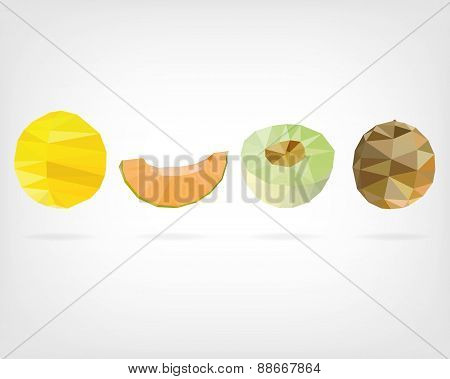 Low Poly Melons