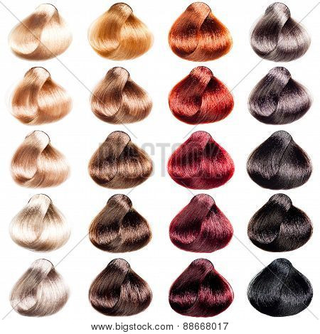 Colored hair samples