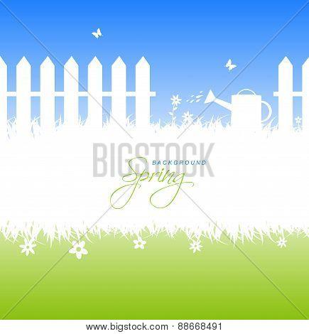 Spring Garden Background With Copyspace