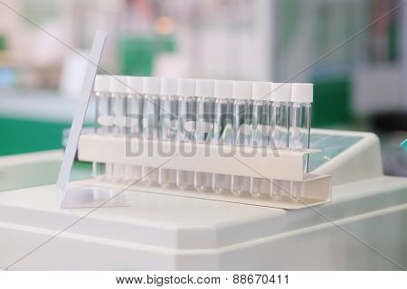 Laboratory equipment. Test tubes