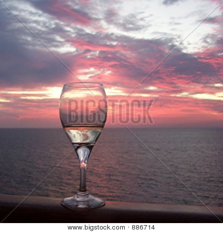 Savoring Sunset At Sea