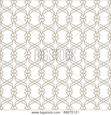 Abstract Vintage Geometric  Pattern Seamless Background. Vector.