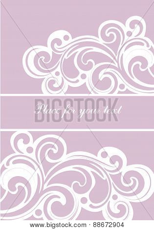 Vector Background With Floral Ornament And Copy Space.